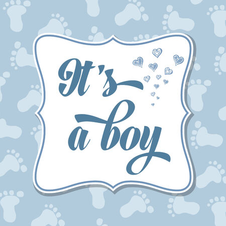 specifically: Baby boy  invitation for baby shower, vector format