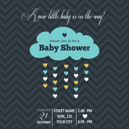 baby boy shower card , vector illustration Vector