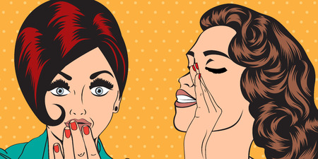 pop art retro women in comics style that gossip