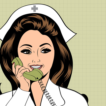 female doctor: Beautiful friendly and confident nurse  Illustration