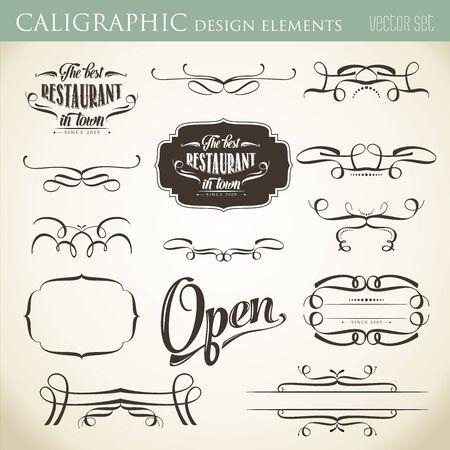 embellish: calligraphic design elements to embellish your layout, vector format Illustration