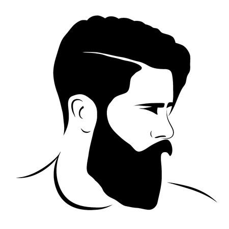 stylish boy: man silhouette hipster style, vector illustration