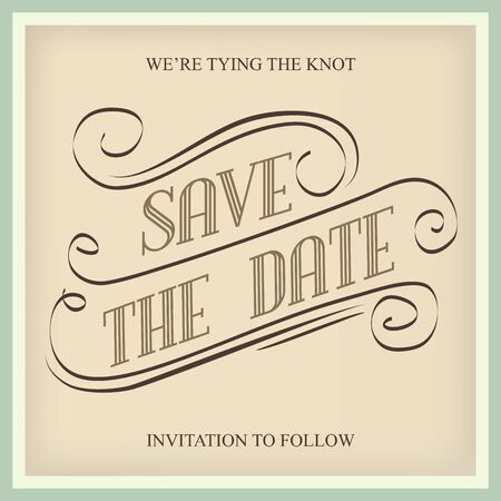 Save the Date, illustrator format Vector