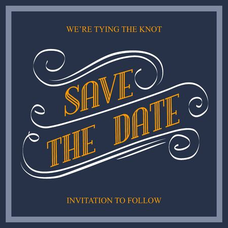 Save the Date, illustrator format eps10 Vector