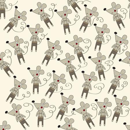 ratones: sin patrón, con ratones, formato vectorial