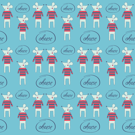 mice: seamless pattern with mice, vector format