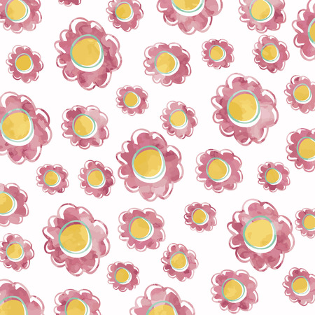 pink flower background: Beautiful pink flower background Illustration