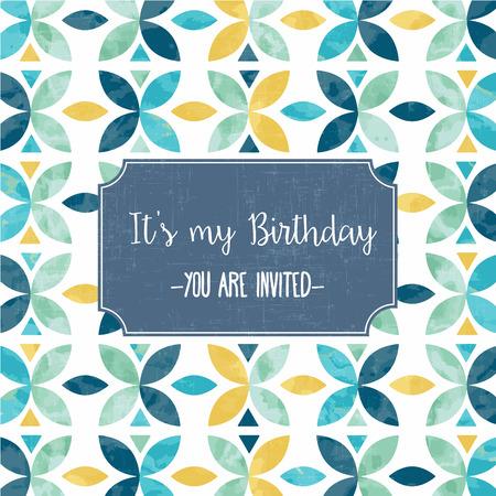 birthday invitation: floral birthday party invitation