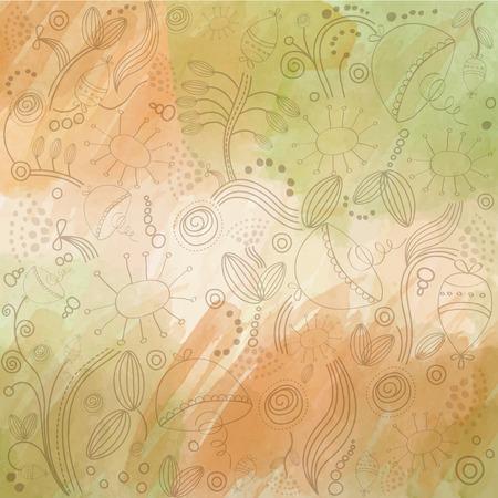 autumn background: autumn watercolor background, vector eps10