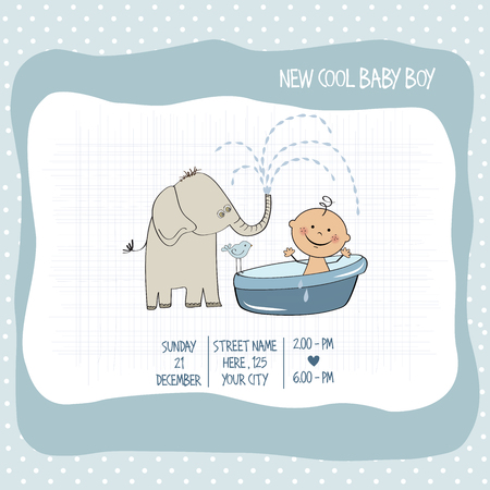special moments: baby boy shower card