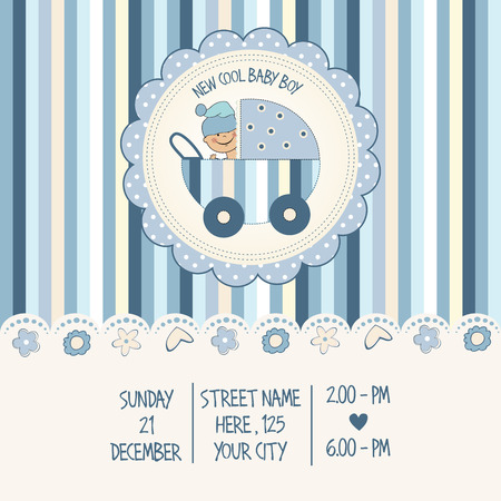 baby boy announcement: baby boy shower card