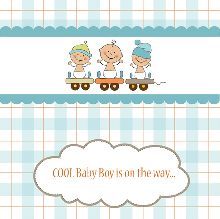 shower: baby boy shower card