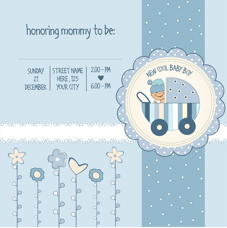 cool background: baby boy shower card