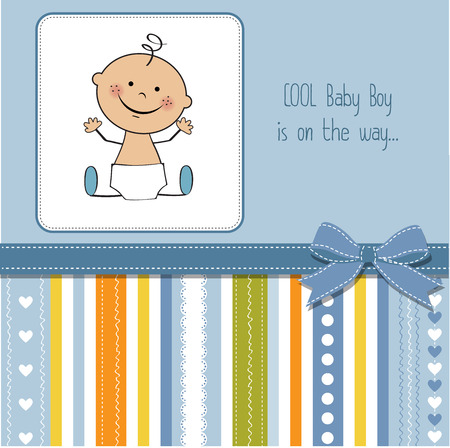 baby boy shower card Фото со стока - 46573874