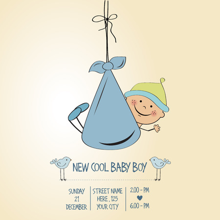 specifically: baby boy shower card