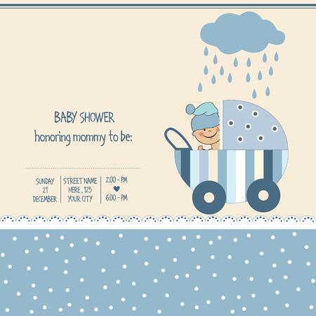playfulness: baby boy shower card