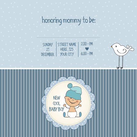 cool backgrounds: baby boy shower card