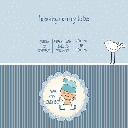 baby blue: baby boy shower card