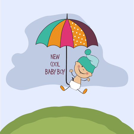 special moments: baby boy shower card, vector eps10 Illustration
