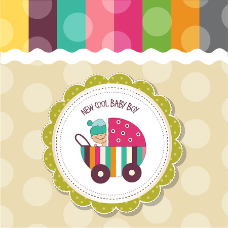 baby boy: baby boy shower card, vector eps10 Illustration