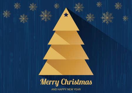 tarjeta de invitacion: Tarjeta de Navidad con el �rbol de Navidad.