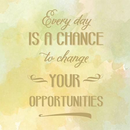 past: Motivation watercolor poster. Text lettering of an inspirational saying. Quote Typographical Poster Template