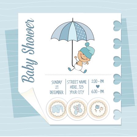 infant: baby boy shower card, vector illustration
