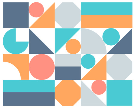 colorful abstract background: Vector abstract colorful geometric background, Illustration