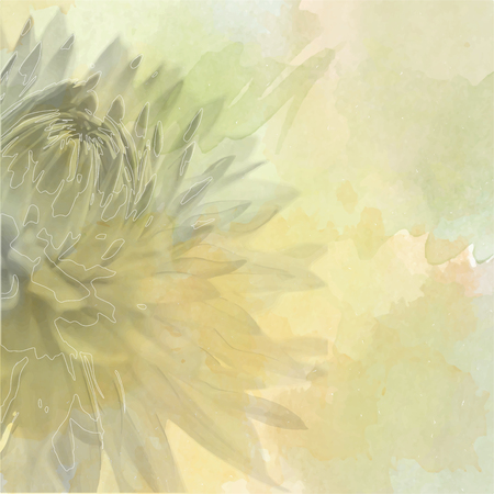 colorize: flower background on soft pastel color in blur style,