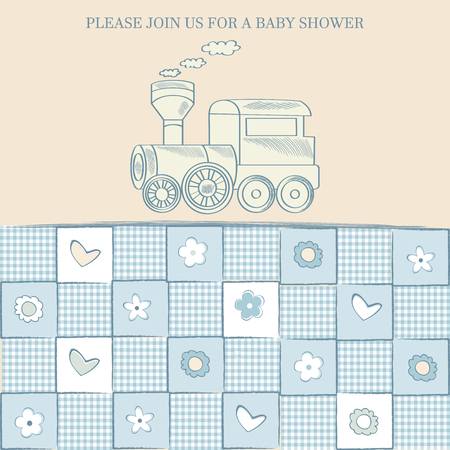 baby boy: baby boy shower card, vector illustration