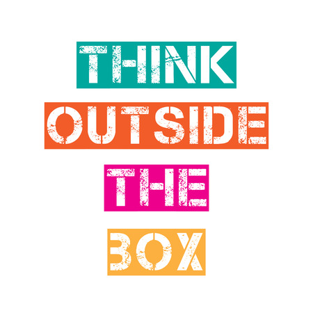 outside the box: Inspirational quote.Think outside the box