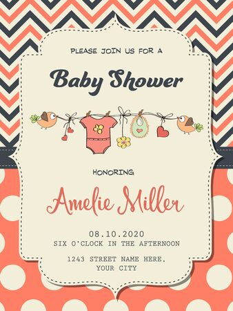 baby girl: Beautiful baby girl shower card