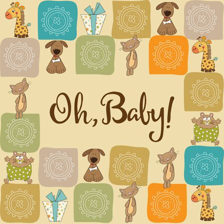 playfulness: baby shower card with animals