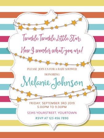 Lovely baby shower card Illustration