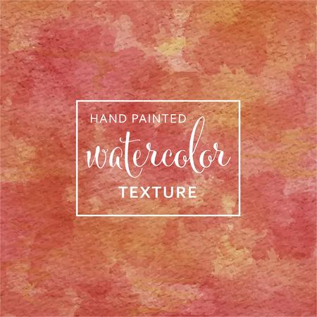 Rode en gele pastel aquarel op zijdepapier patroon