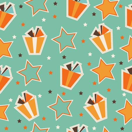 선물 상자가있는 패턴