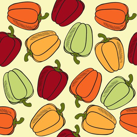 Pattern with peppers