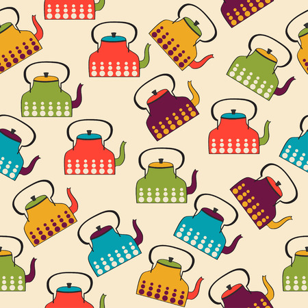 Funny pattern with kettles