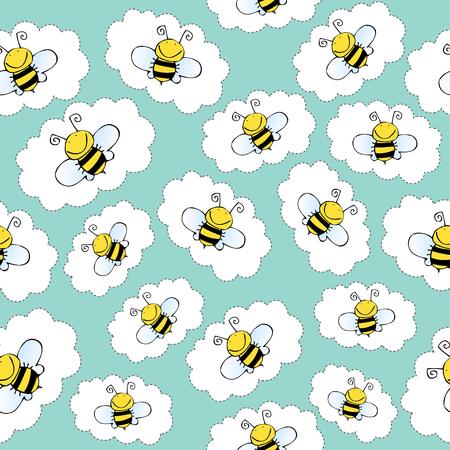 Patroon met bijen
