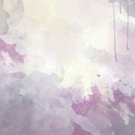 purple hand drawn watercolor background, vector 矢量图像