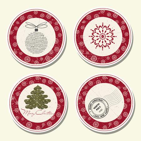 Colección de etiquetas navideñas Foto de archivo - 90628871