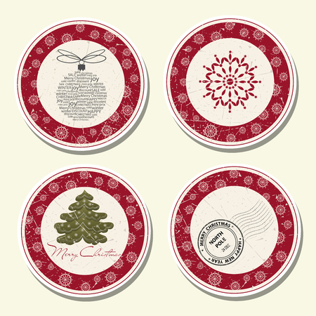 Christmas labels collection Illustration