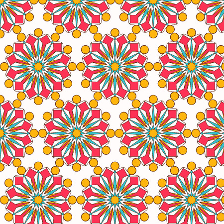Oriental vector pattern with round arabesques elements. Vintage pattern with arabesques. Stock fotó - 95589216