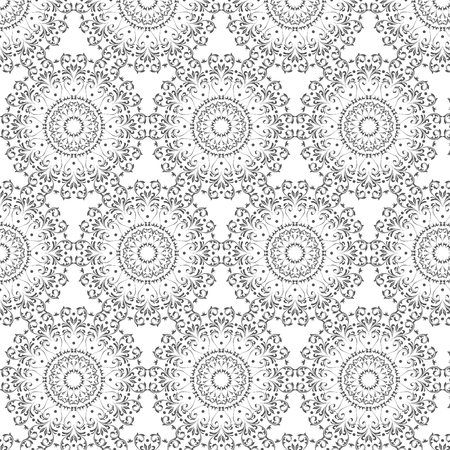 Oriental vector pattern with round arabesques elements. Vintage pattern with arabesques. Stock fotó - 95589217