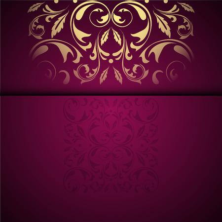 Vector Goldorientalischen Arabeskenmusterhintergrund mit Platz für Text. Granatfarbe Standard-Bild - 95589220