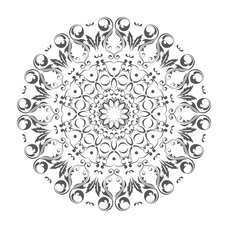 Oriental vector round ornament with arabesques elements. Traditional classic ornament. Vintage pattern with arabesques. Stock fotó - 95589226