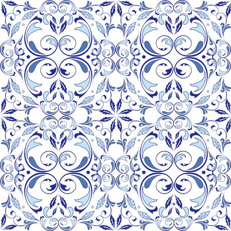 Modèle sans couture de vecteur oriental avec des éléments d'arabesques. Ornement classique traditionnel. Motif vintage avec arabesques. Banque d'images - 95589227