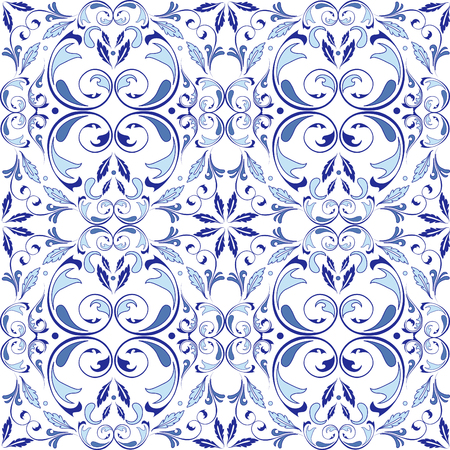 Oriental vector seamless pattern with arabesques elements. Traditional classic ornament. Vintage pattern with arabesques.