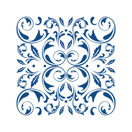 Oriental vector square ornament with arabesques elements. Traditional classic ornament. Vintage pattern with arabesques. Stock fotó - 95589261