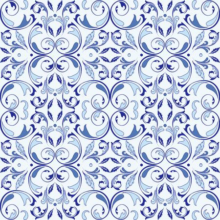 アラベスク要素を持つオリエンタルベクターシームレスパターン。伝統的な古典的な装飾。アラベスクとヴィンテージパターン。